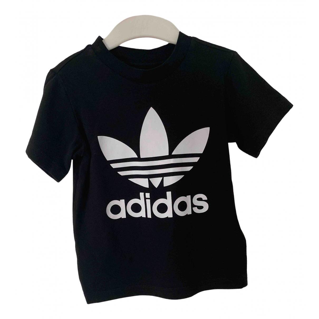 Adidas - Top   pour enfant en coton - noir