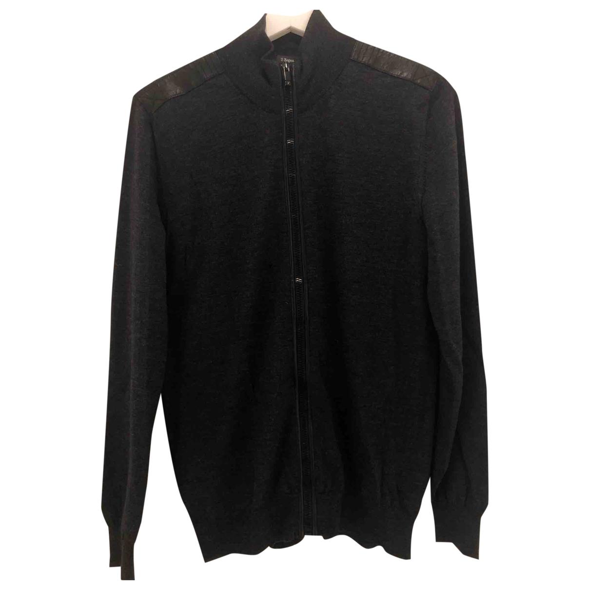 Z Zegna \N Pullover.Westen.Sweatshirts  in  Anthrazit Wolle