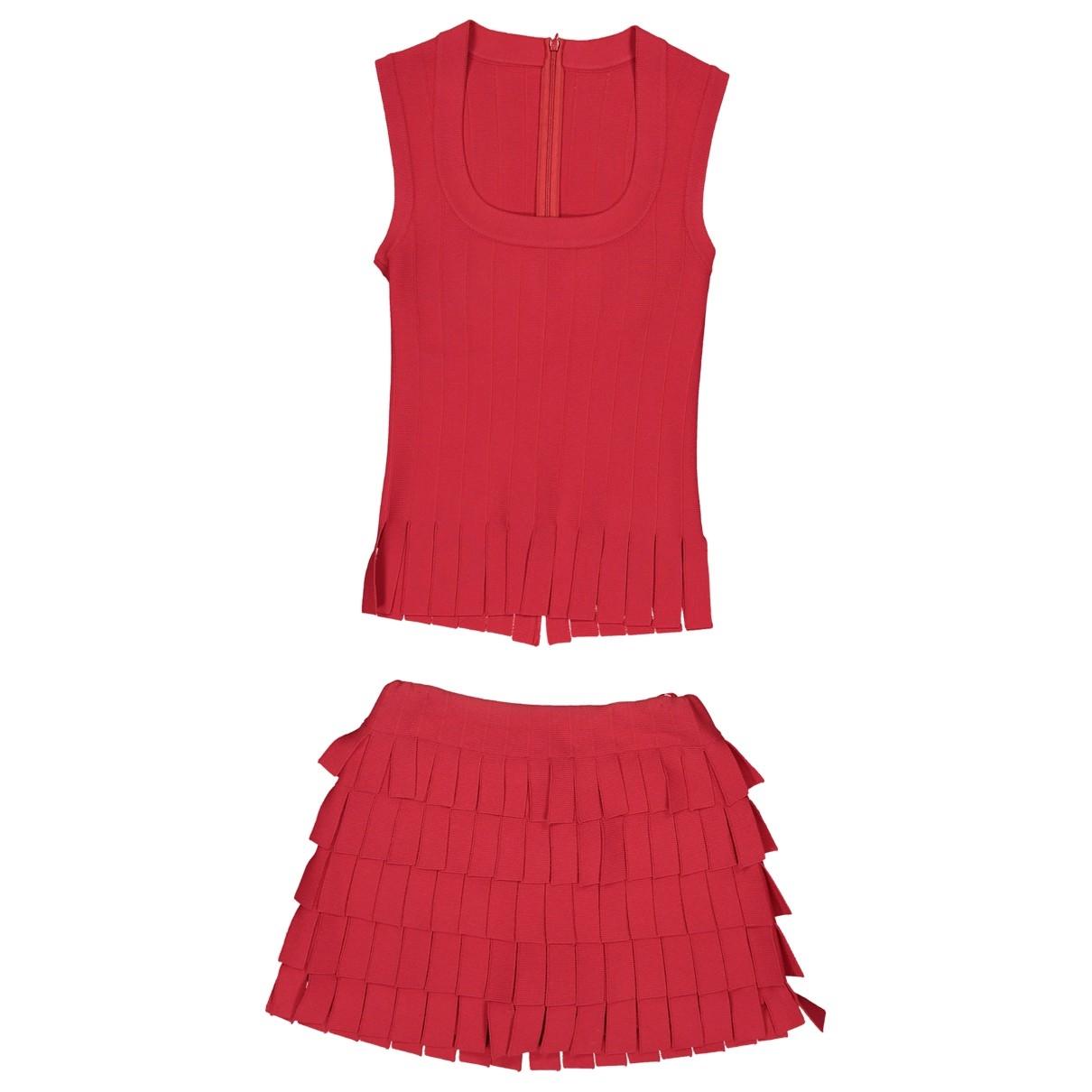 Alaia \N Shorts in  Rot Viskose