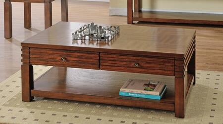 Tista Collection TS100CT Coffee Table with 2 Storage Drawers and Wood Top in Medium Cherry