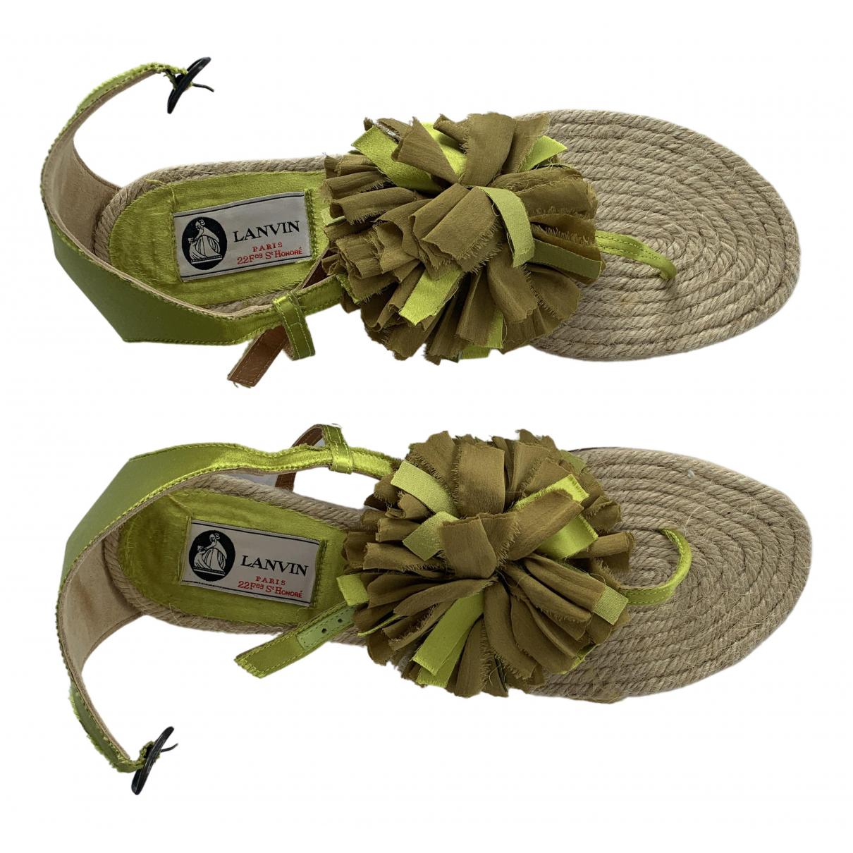 Lanvin \N Green Cloth Sandals for Women 39 EU
