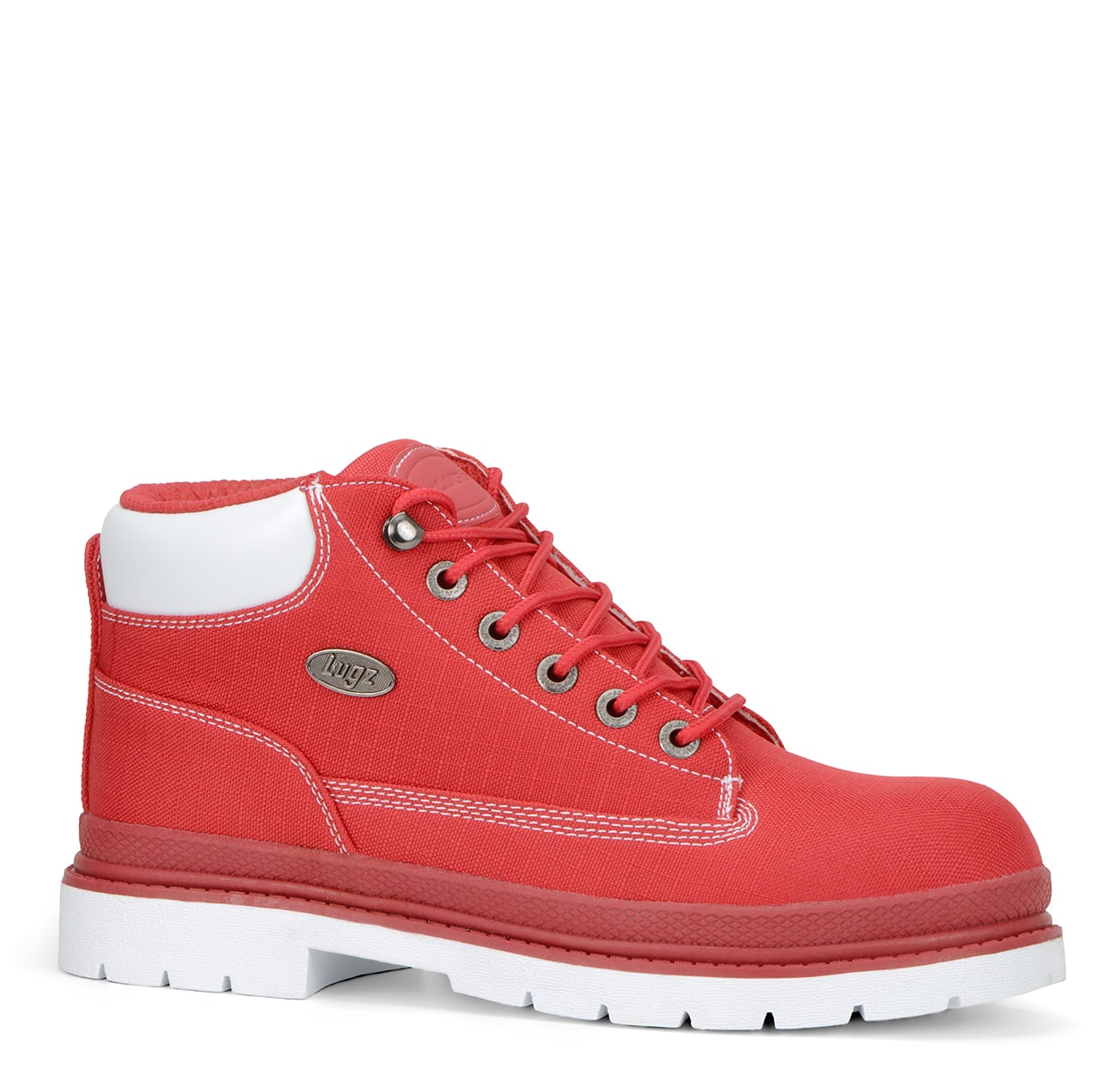 Men's Drifter Ripstop Chukka Boot (Choose Your Color: RED/WHITE, Choose Your Size: 9.5)