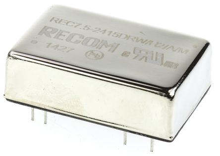 Recom REC7.5 7.5W Isolated DC-DC Converter Through Hole, Voltage in 18 → 36 V dc, Voltage out ±15V dc Medical