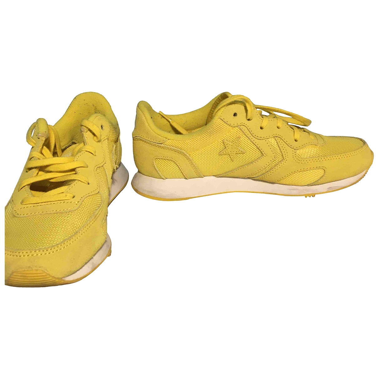 Converse - Baskets   pour femme en suede - jaune