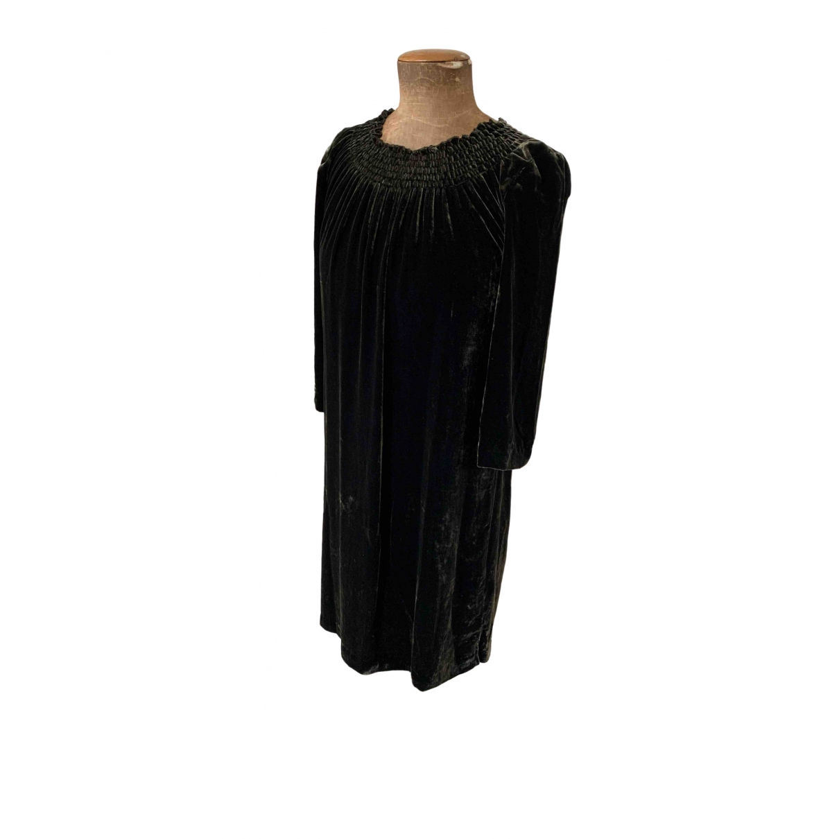 Brora \N Kleid in  Gruen Samt