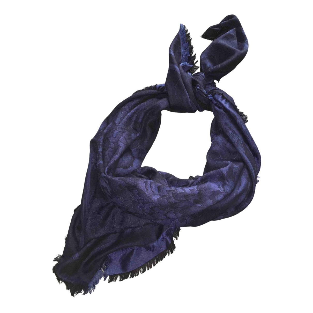Leonard N Blue Silk scarf for Women N