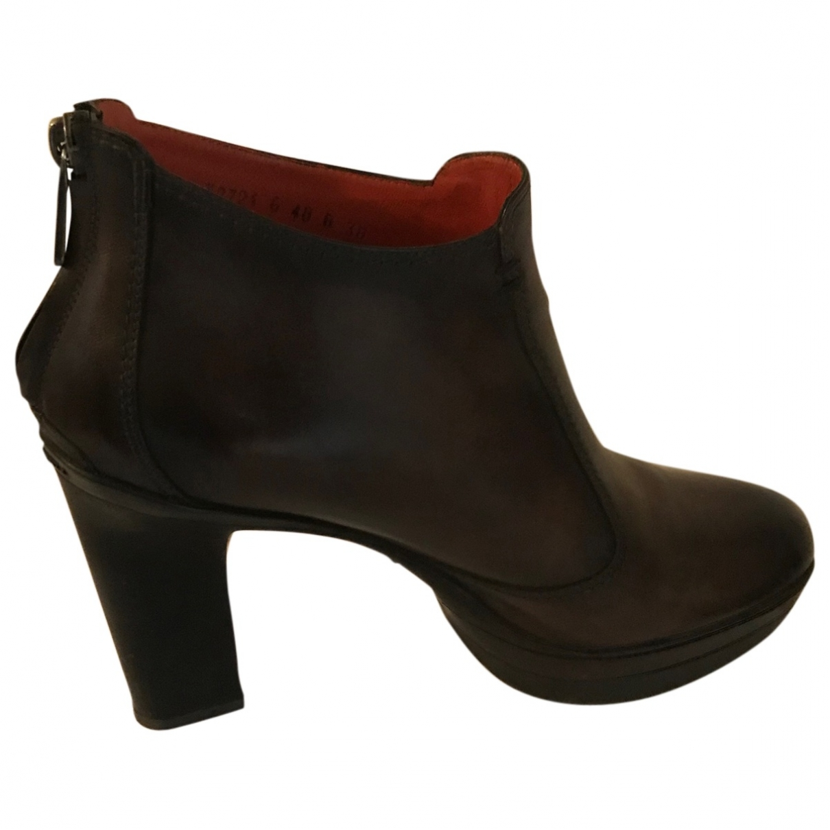 Santoni \N Brown Leather Ankle boots for Women 38 EU