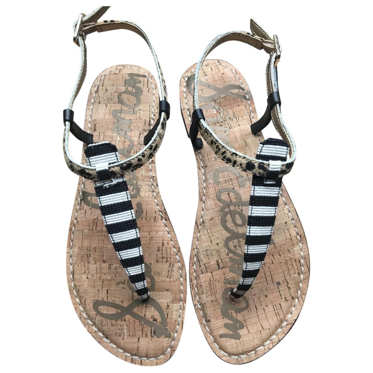 Sam Edelman \N Brown Leather Sandals for Women 37.5 EU