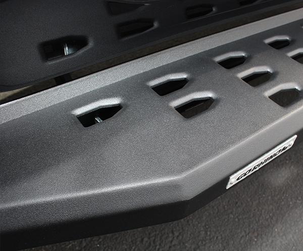 Go Rhino 6944158020PC RB20 Running Boards w Drop Steps, Black Textured Powdercoat, Pair, Complete Set Toyota Tundra 2007-2020