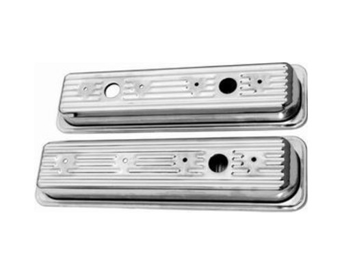 Racing Power Company R9702 Chrome OEM Valve Covers SB Chevrolet 1987-Up