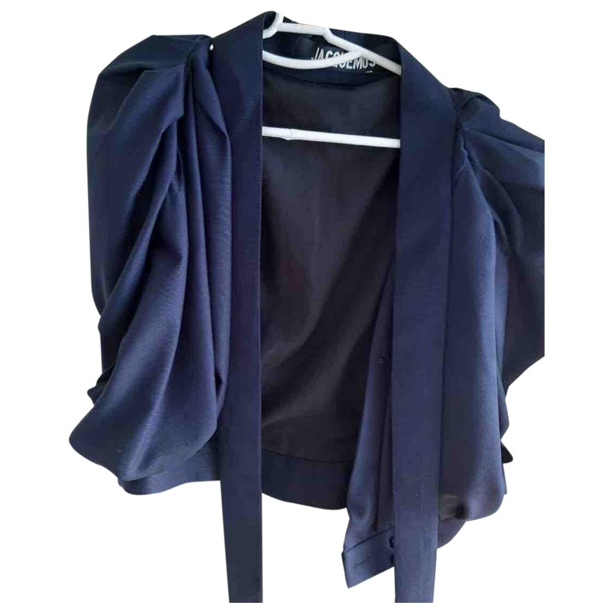 Jacquemus L'Amour d'un Gitan Navy Wool  top for Women 36 FR