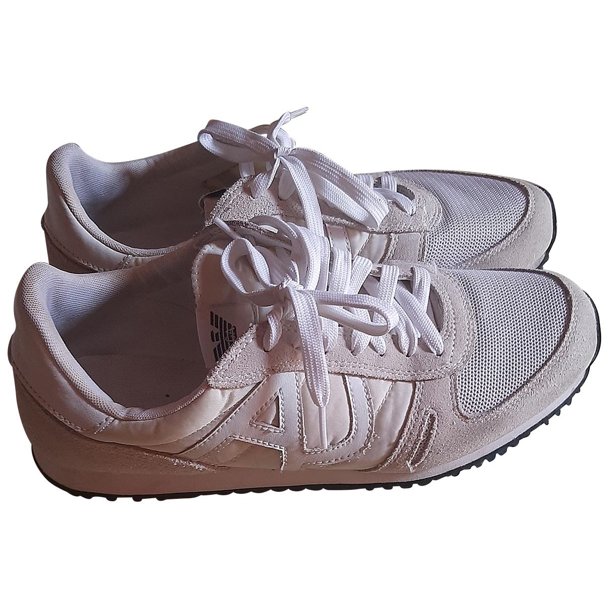 Armani Jeans \N Sneakers in  Weiss Leinen