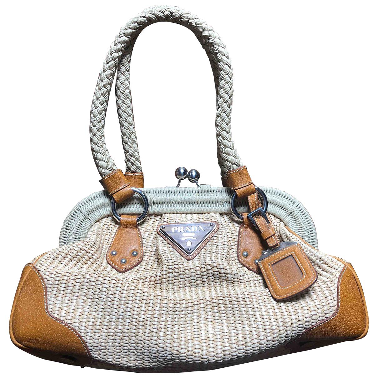 Prada \N Beige Wicker handbag for Women \N
