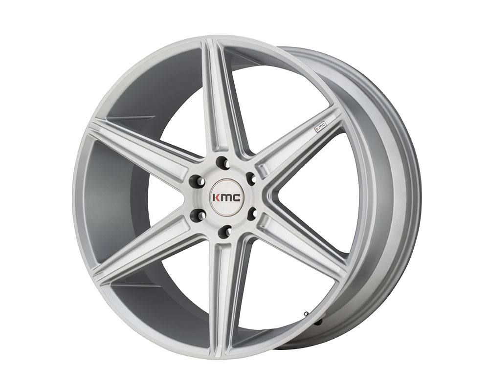 KMC KM712 Prism Truck Wheel 22x9.5 6x6x135 +30mm Brushed Silver