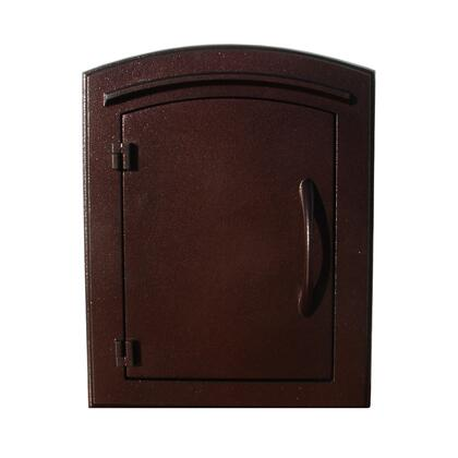 MAN-S-1400-AC Manchester Security Drop Chute Mailbox with Plain Door Faceplate in Antique