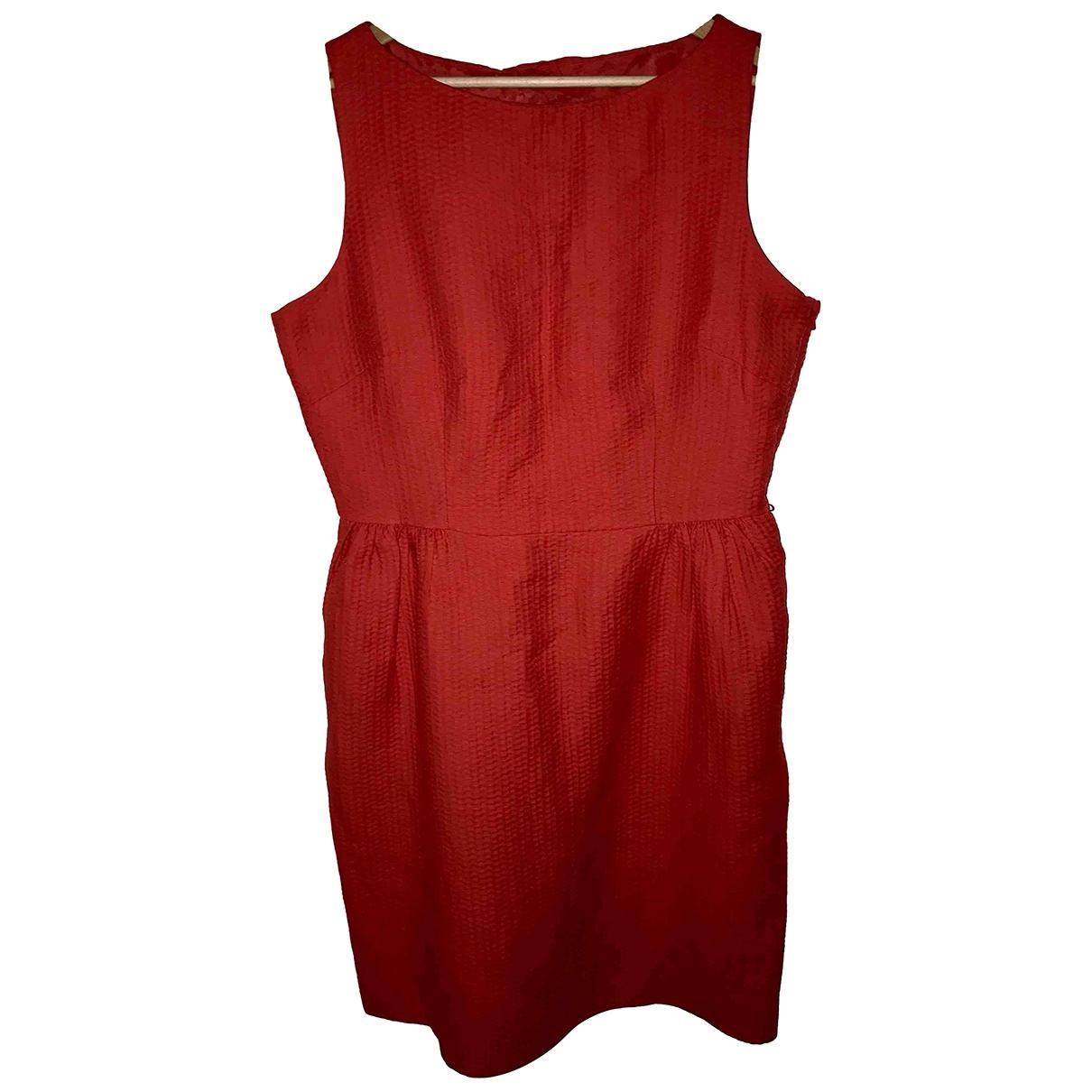 Coast \N Kleid in  Rot Baumwolle
