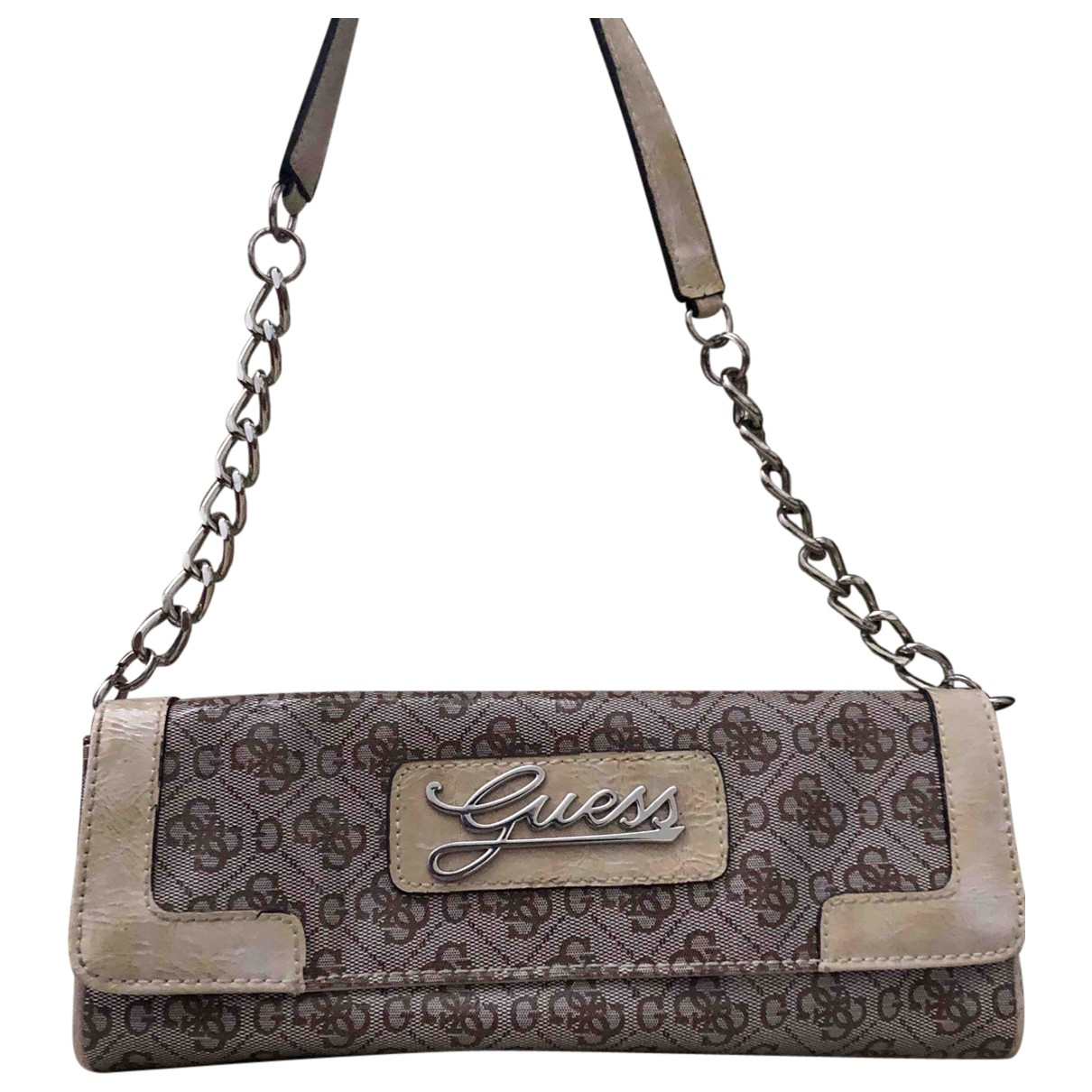 Guess \N Clutch in  Beige Polyester