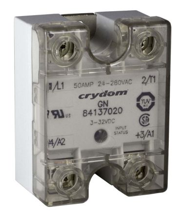 Sensata / Crydom 75 A rms Solid State Relay, Zero Crossing, Panel Mount, SCR, 280 V ac Maximum Load