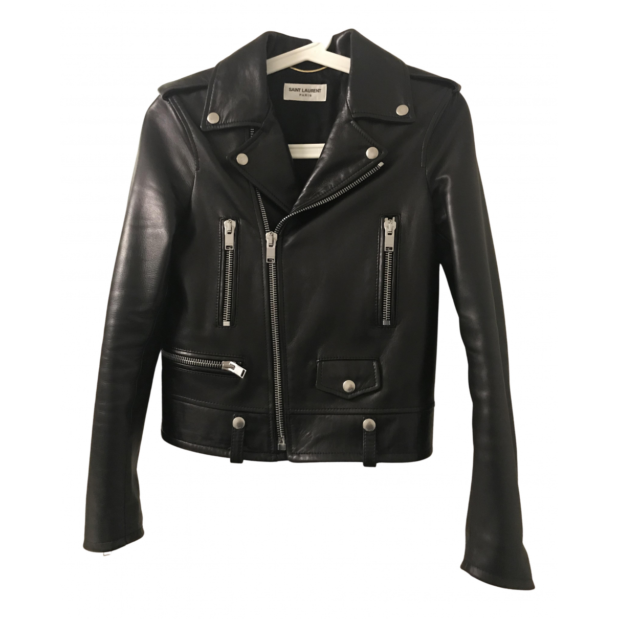 Saint Laurent \N Lederjacke in  Schwarz Leder