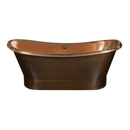 COTDSN70B-SAP Chopin Double Slipper Tub w/ Base 70  Polished Int  No