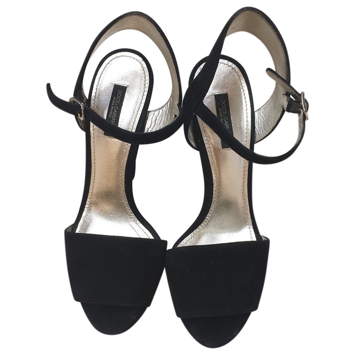 Dolce & Gabbana \N Black Suede Sandals for Women 38 EU