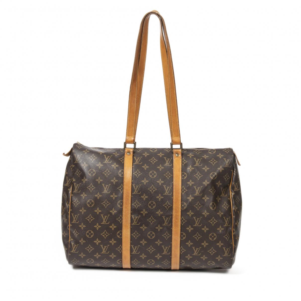 Louis Vuitton Flanerie Handtasche in  Braun Baumwolle