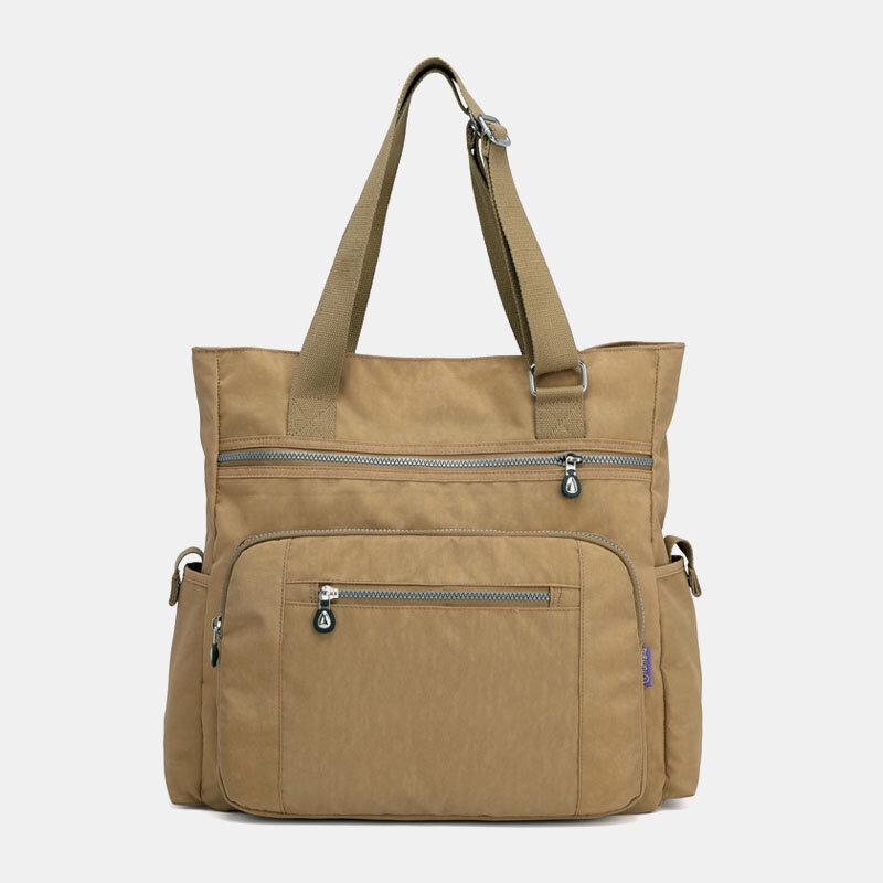 Women Nylon Large Capacity Water-Resistant Travel Handbag