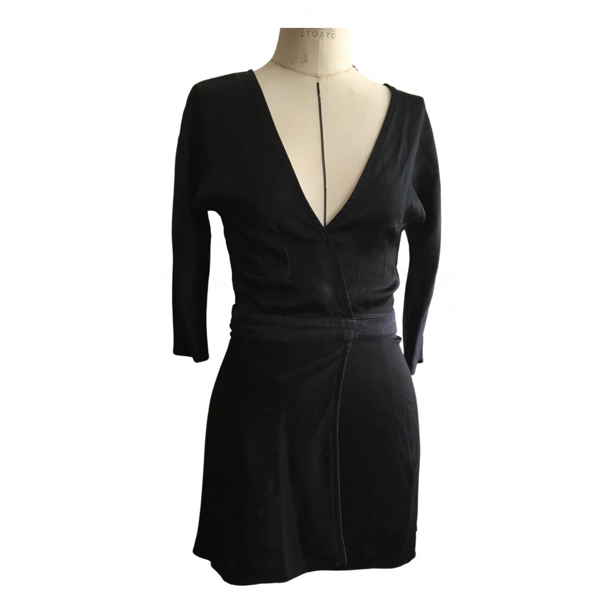 Are You Am I - Robe   pour femme en soie - noir