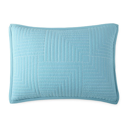 JCPenney Home Zen Garden Pillow Sham, One Size , Blue