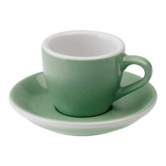 "Espressotasse mit Untertasse Loveramics ""Egg Mint"", 80 ml"