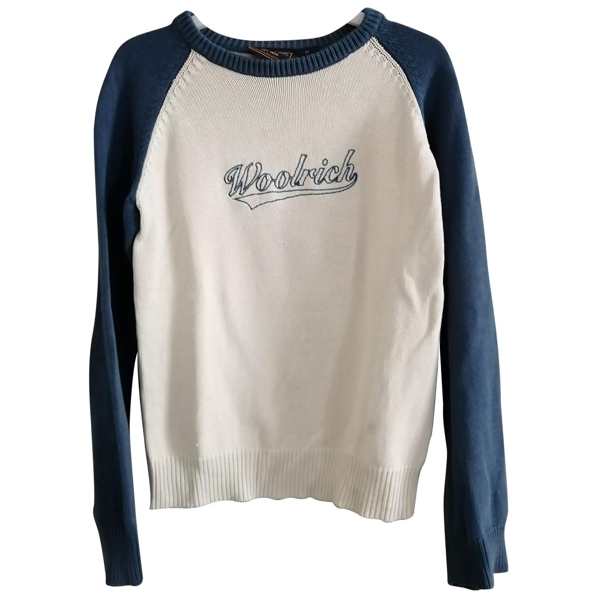 Woolrich - Pull   pour femme en coton - blanc