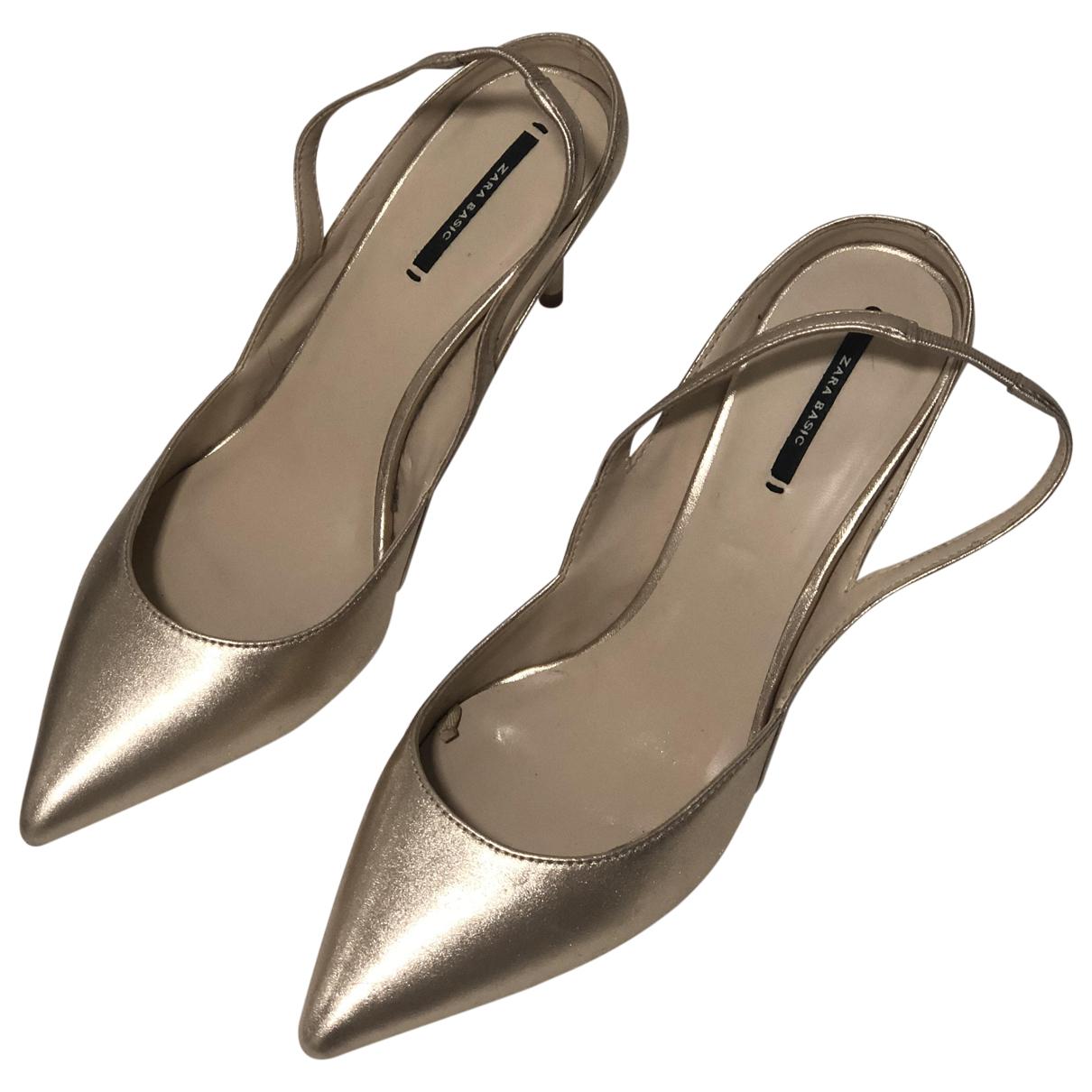 Zara \N Gold Mules & Clogs for Women 40 EU
