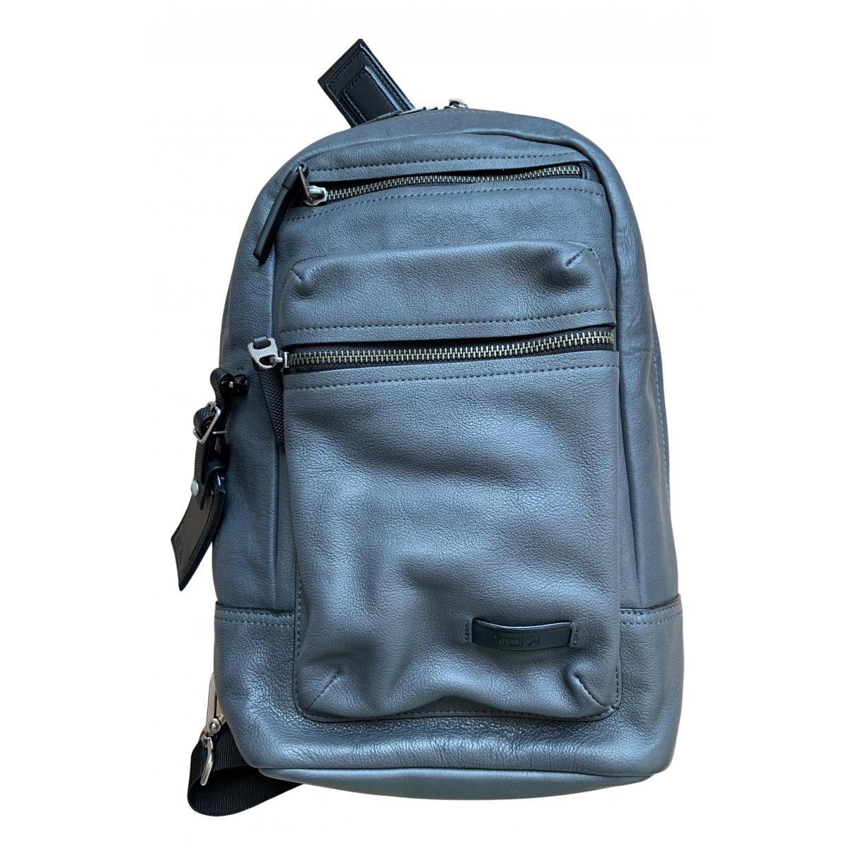 Tumi N Grey Leather bag for Men N
