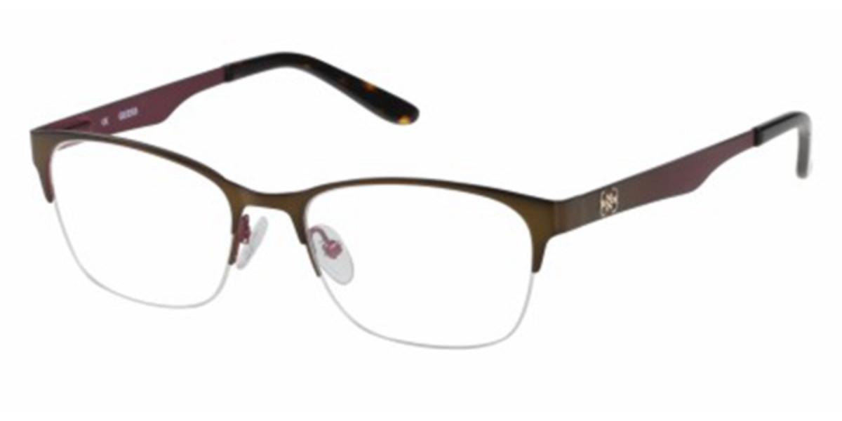 Guess GU 2399 E55 Women's Glasses Brown Size 53 - Free Lenses - HSA/FSA Insurance - Blue Light Block Available