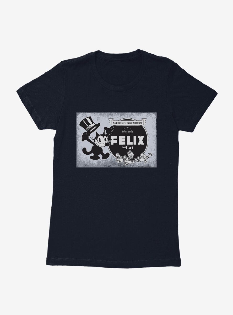 Felix The Cat Vintage Logo Poster Womens T-Shirt