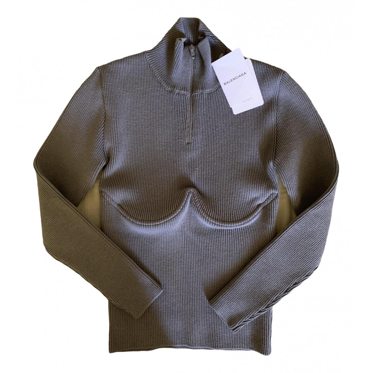 Balenciaga \N Grey Wool Knitwear for Women 38 IT