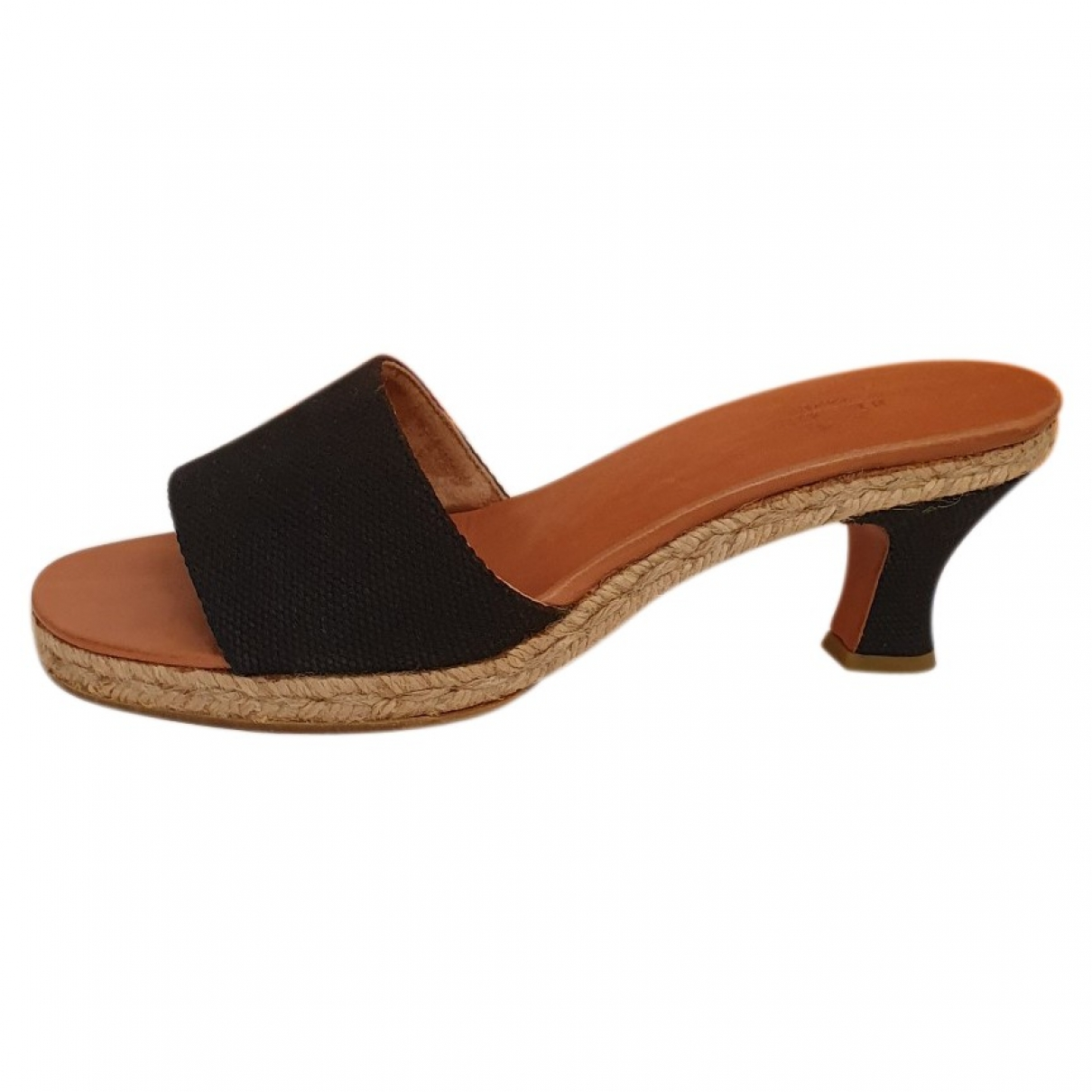 Hermès \N Black Cloth Sandals for Women 39 EU