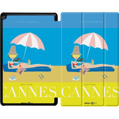 Amazon Fire HD 10 (2017) Tablet Smart Case - CANNES TRAVEL POSTER von IRMA