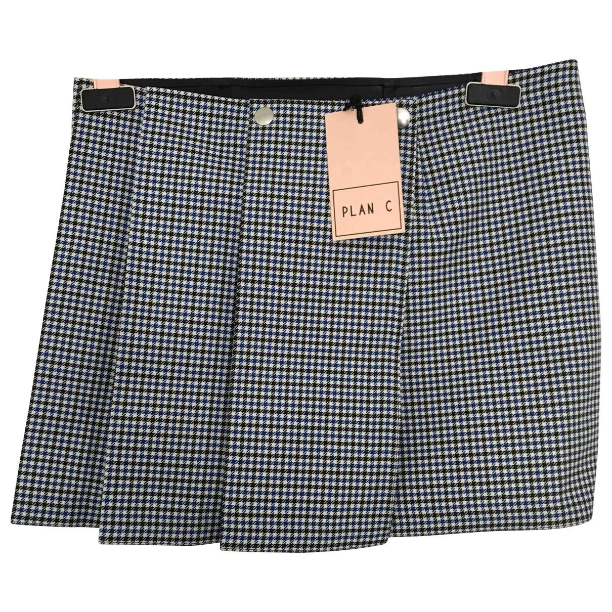Plan C \N Multicolour Cotton skirt for Women 38