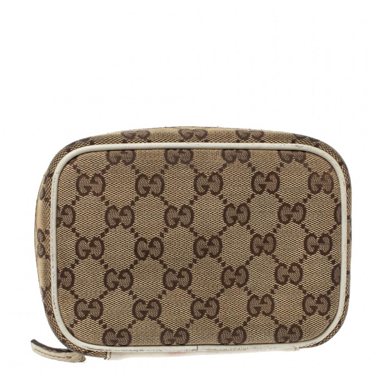Gucci - Pochette   pour femme en cuir - beige