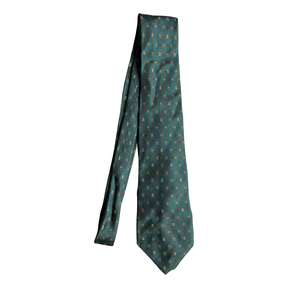 Celine \N Krawatten in  Gruen Seide