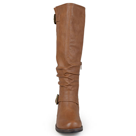 Journee Collection Womens Stormy Extra Wide Calf Riding Boots, 8 1/2 Medium, Beige