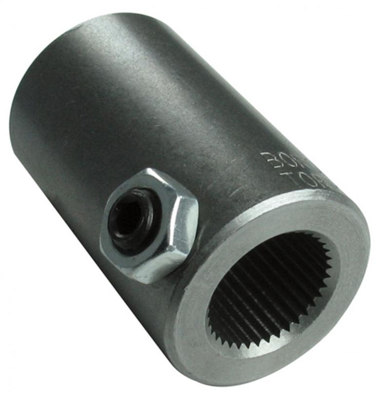 Borgeson 313800 Steering Coupler; Steel; 13/16-12 X 1in. Smooth Bore