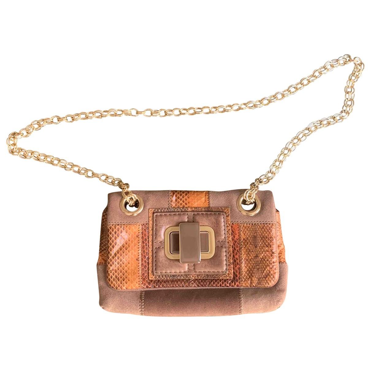 Maliparmi \N Handtasche in  Beige Leder