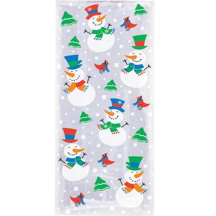 Bonhomme de neige glee sacs de cellophane, 11
