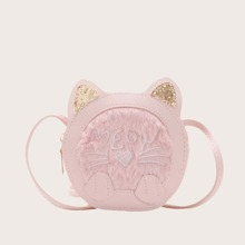 Girls Glitter Cat Ear Crossbody Bag