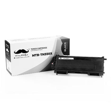 Compatible Brother TN350X Black Toner Cartridge Extra High Yield - Moustache@ - 4/Pack