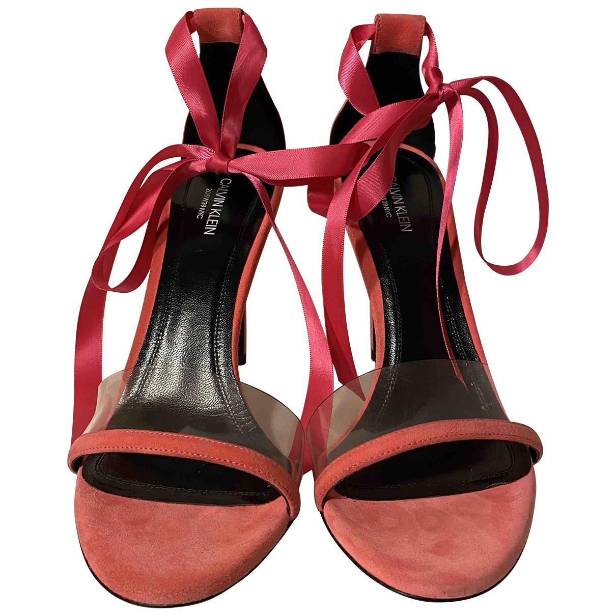 Calvin Klein 205w39nyc \N Pink Suede Sandals for Women 39 EU