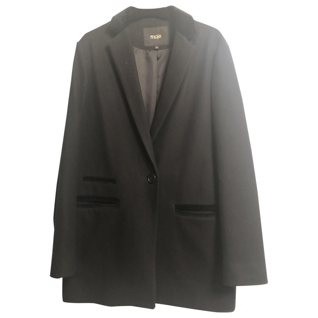 Maje - Veste   pour femme en laine - noir