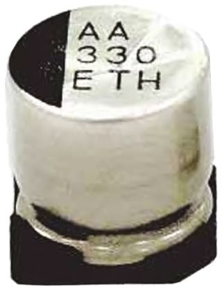 Rubycon 100μF Electrolytic Capacitor 35V dc, Surface Mount - 35THV100M8X10.5 (5)